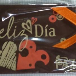 Tarjeta chocolate impreso