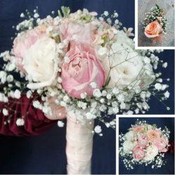 Bouquet de novia Rosas Pastel